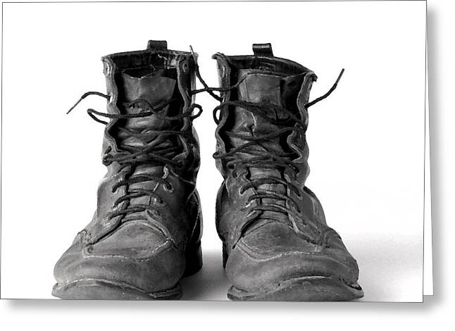 Boots Digital Art Greeting Cards - Work Boots Retired Greeting Card by Gerry Wilson