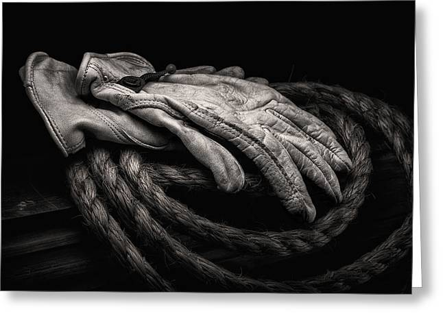 Work Gloves Still Life Greeting Card by Tom Mc Nemar