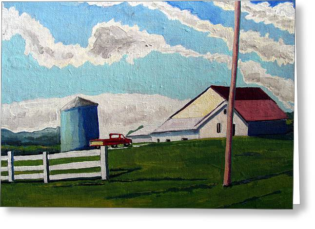 Indiana Landscapes Paintings Greeting Cards - Work Truck Greeting Card by Charlie Spear