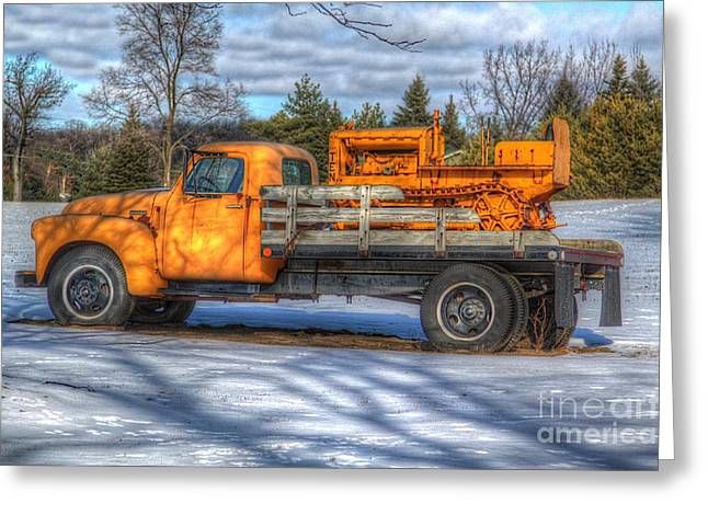 Old Trucks Greeting Cards - Work truck of yesterday Greeting Card by Robert Pearson