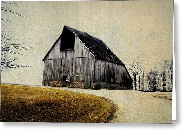 Barn Digital Art Greeting Cards - Work Wanted Greeting Card by Julie Hamilton