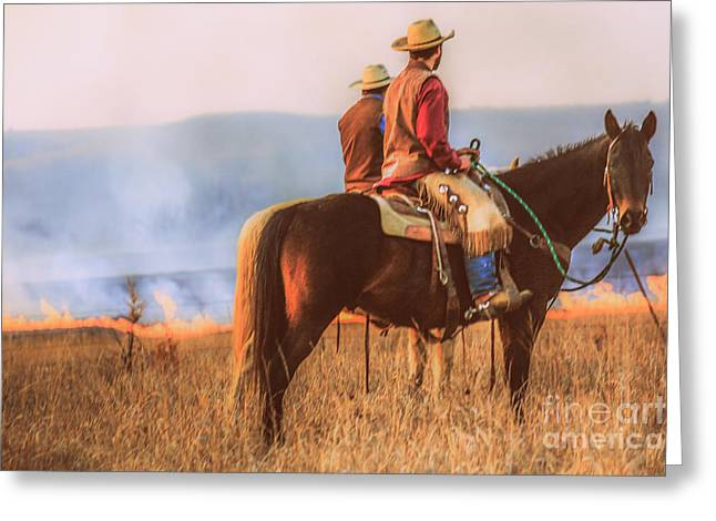 Horse Hill Preserve Greeting Cards - Working Cowboys Greeting Card by Lynn Sprowl