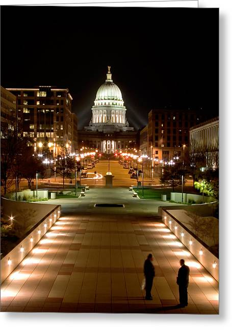 Working Late Greeting Card by Todd Klassy