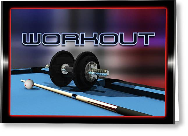 9ball Greeting Cards - WorkOut Greeting Card by Draw Shots