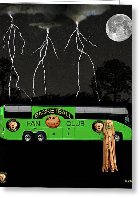 Shooting The Ball Greeting Cards - World Basketball Greeting Card by Eric Kempson
