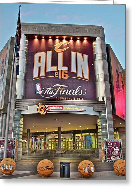 World Champion Cleveland Cavaliers Greeting Card by Frozen in Time Fine Art Photography
