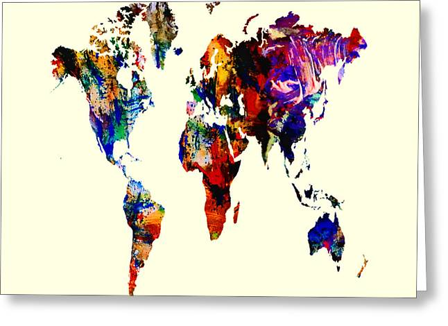 World Map 02 Greeting Card by Brian Reaves