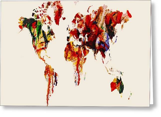 World Map 06 Greeting Card by Brian Reaves