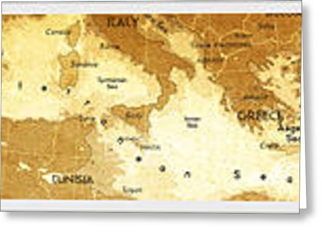 Europe Mixed Media Greeting Cards - World map with countries labeled Greeting Card by PowerPoint MapsOnline