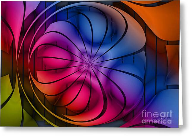 Fractal World Greeting Cards - World of Colors Greeting Card by Jutta Maria Pusl