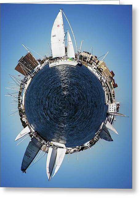 Sailboat Art Greeting Cards - World of Sailboats Charleston SC Greeting Card by Dustin K Ryan