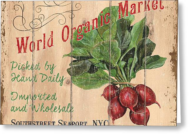 World Organic Market Greeting Card by Debbie DeWitt