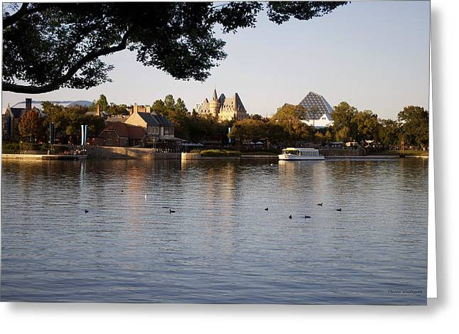 Princes Greeting Cards - World Showcase Lagoon Boat Ride WDW 01 Greeting Card by Thomas Woolworth