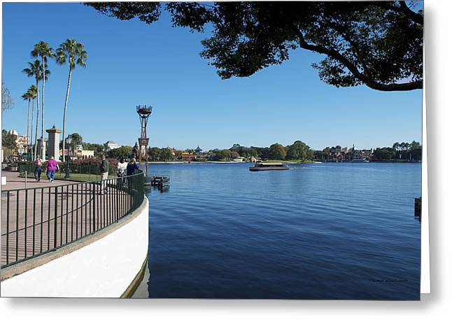 Princes Greeting Cards - World Showcase Lagoon Boat Ride WDW 02 Greeting Card by Thomas Woolworth