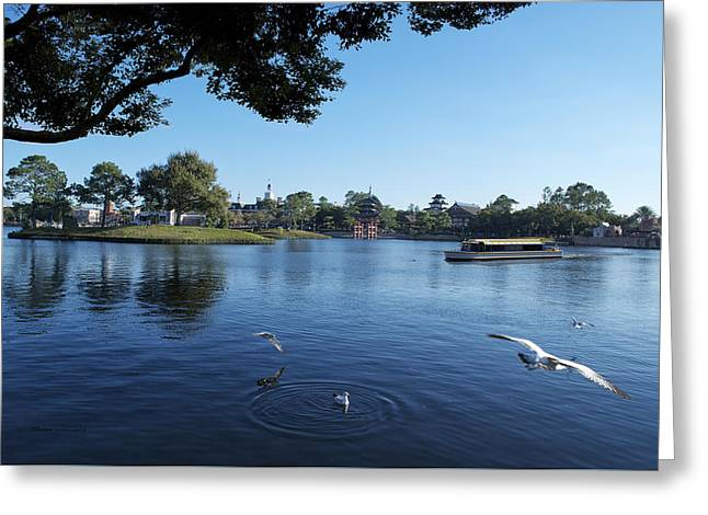 Princes Greeting Cards - World Showcase Lagoon Boat Ride WDW 03 Greeting Card by Thomas Woolworth