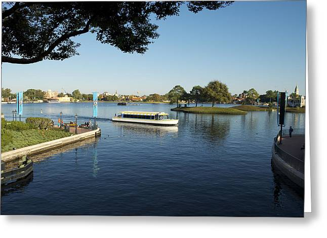 Princes Greeting Cards - World Showcase Lagoon Boat Ride WDW 05 Greeting Card by Thomas Woolworth