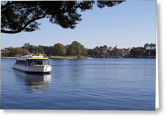 Princes Greeting Cards - World Showcase Lagoon Boat Ride WDW 06 Greeting Card by Thomas Woolworth