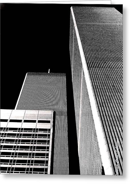 World Trade Center Pillars Greeting Card by Deborah  Crew-Johnson