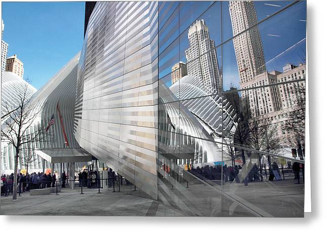 World Trade Center Plaza Greeting Card by Jessica Jenney
