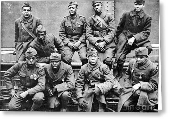 WORLD WAR I: BLACK TROOPS Greeting Card by Granger