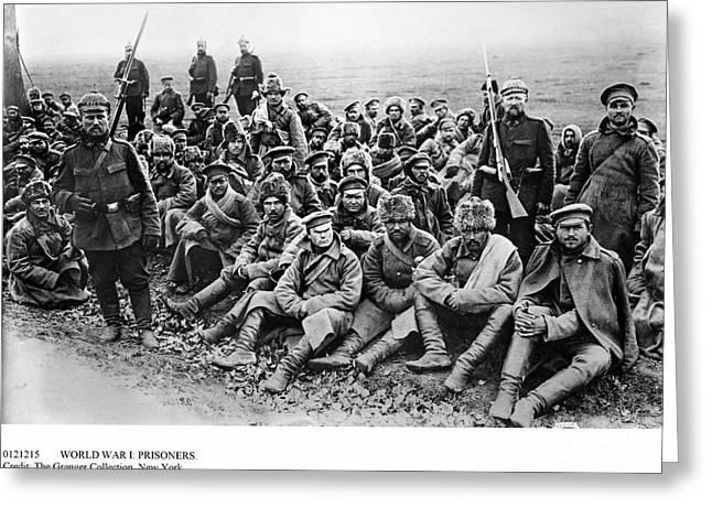 Bayonet Greeting Cards - World War I: Prisoners Greeting Card by Granger