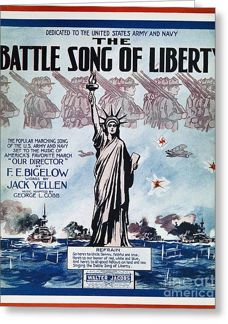World War I: Song Sheet Greeting Card by Granger