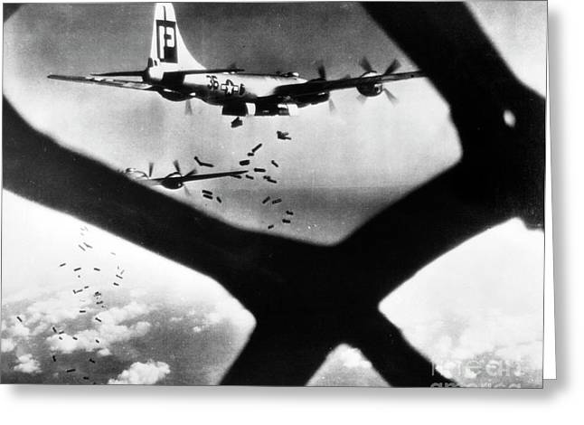 B29 Bomber Greeting Cards - World War Ii B-29 1945 Greeting Card by Granger