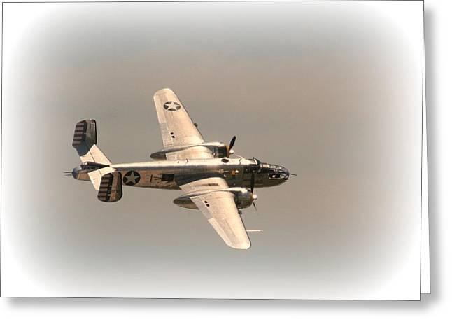 World War II B25 Mitchell Bomber Greeting Card by David Dunham