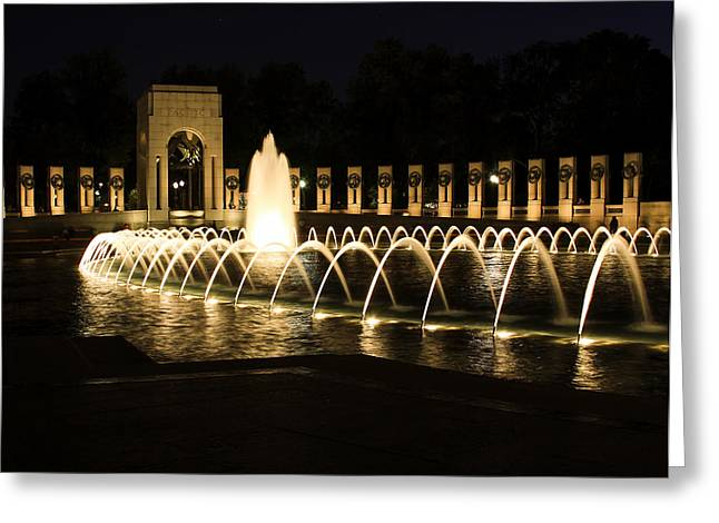 Best Sellers -  - Kim Photographs Greeting Cards - World War Memorial Greeting Card by Kim Hojnacki