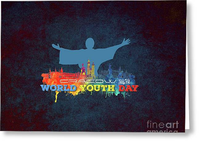 World Youth Day Cracow 2016 Color Greeting Card by Justyna JBJart