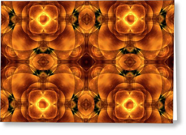 Abstract Earth Tones Greeting Cards - Worlds Collide 8 Greeting Card by Mike McGlothlen
