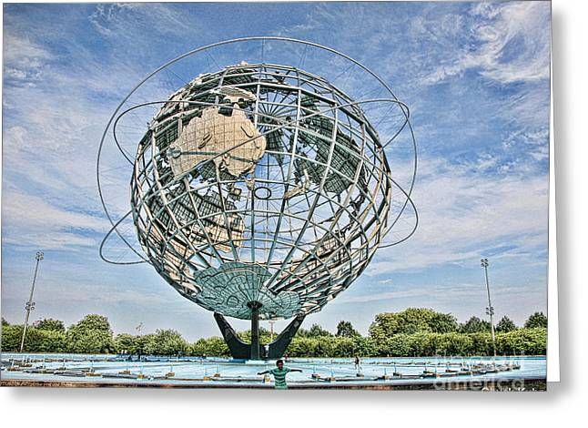 Chuck Kuhn Greeting Cards - Worlds Fair Queens 1964 Greeting Card by Chuck Kuhn
