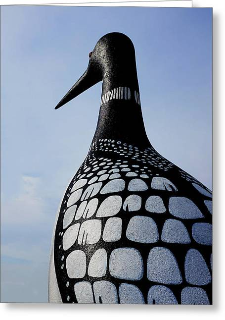 Verga Greeting Cards - Worlds Largest Loon Greeting Card by Todd Lange