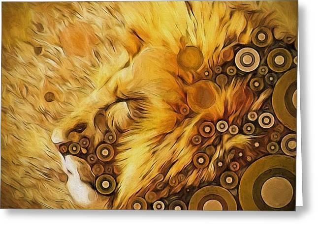 Worlds Of Aslan Greeting Card by Amanda Lakey