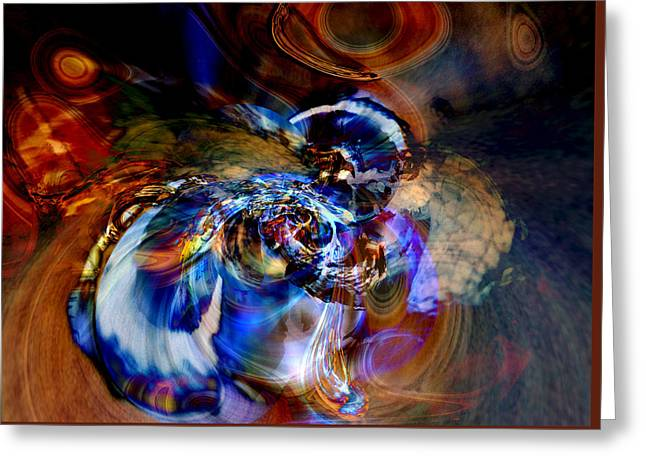 Abstract Expressionist Greeting Cards - Worlds Within Worlds Greeting Card by Richard Thomas