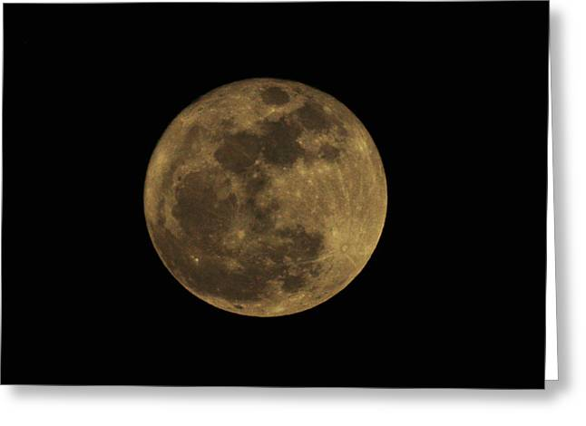 Super Moon Greeting Cards - Worm Moon Greeting Card by Bill Cannon
