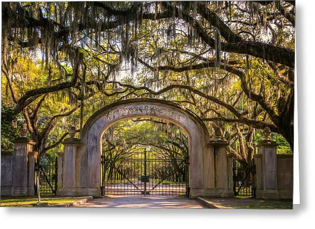 Historic Site Greeting Cards - Wormsloe Plantation Greeting Card by Joan Carroll