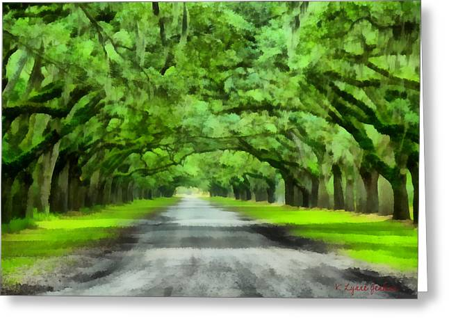 Recently Sold -  - Moss Greeting Cards - Wormsloe Plantation Greeting Card by Lynne Jenkins