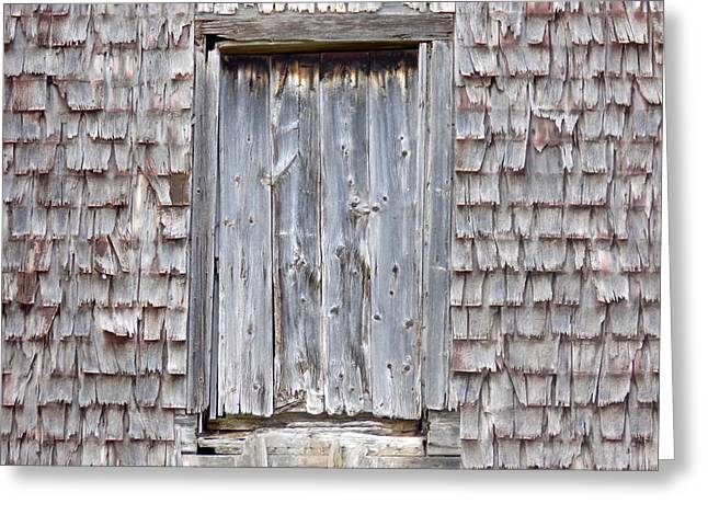 Old Maine Barns Greeting Cards - Worn Out Wood Greeting Card by William Tasker