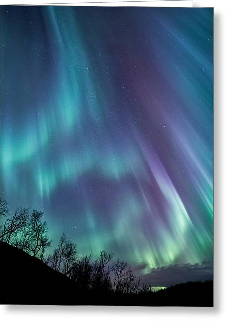 Night Sky Greeting Cards - Worth the wait Greeting Card by Tor-Ivar Naess