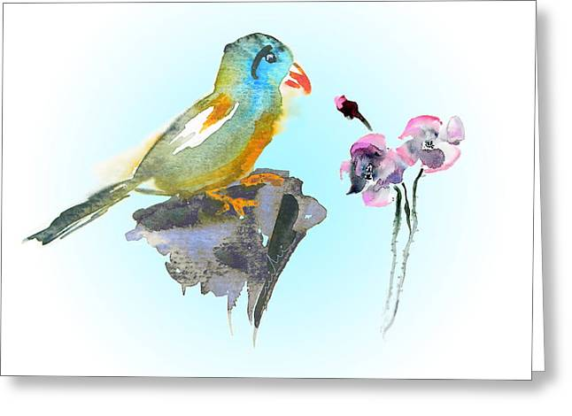 Would You Care To Dance With Me Greeting Card by Miki De Goodaboom