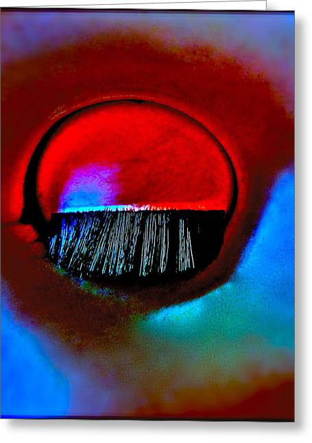 Eyelash Greeting Cards - Wounded Greeting Card by Gwyn Newcombe