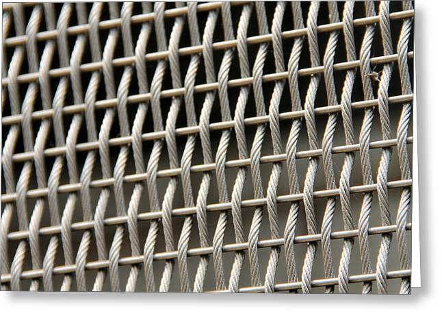 Woven Wires Greeting Card by Nancy Ingersoll