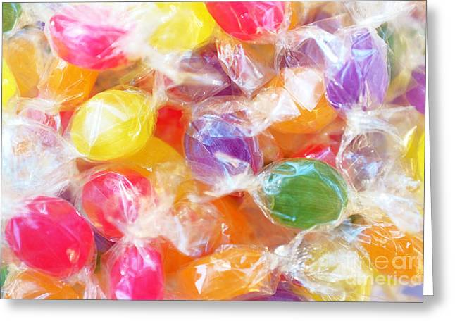 Sugary Greeting Cards - Wrapped Candies Greeting Card by Carlos Caetano
