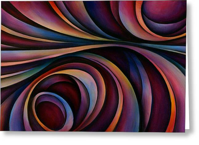 Flowing Greeting Cards - Wrapped Greeting Card by Michael Lang