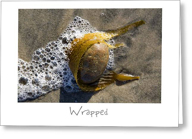 Sand Art Greeting Cards - Wrapped Greeting Card by Peter Tellone