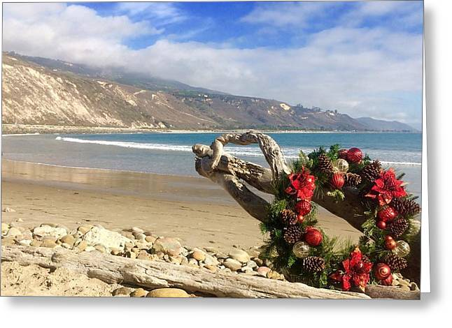 Wreath's Up Greeting Card by Sharon and Kailey Sayre