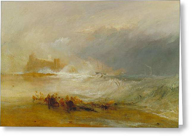 Wreckers -- Coast Of Northumberland Greeting Card by Joseph Mallord William Turner
