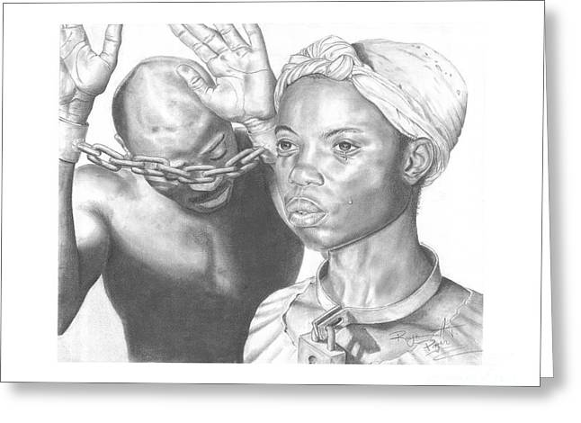 Wretched Bonds Of Slavery Greeting Card by Sandra Pryer