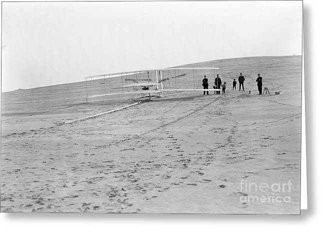 Wright Brothers Airplane, Big Kill Greeting Card by Science Source